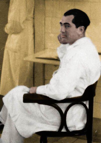 Doktor Erwin Jekelius, morderca w białym kitlu, który zapragnął zostać szwagrem Hitlera (źródło: domena publiczna; koloryzacja: Rafał Kuzak).