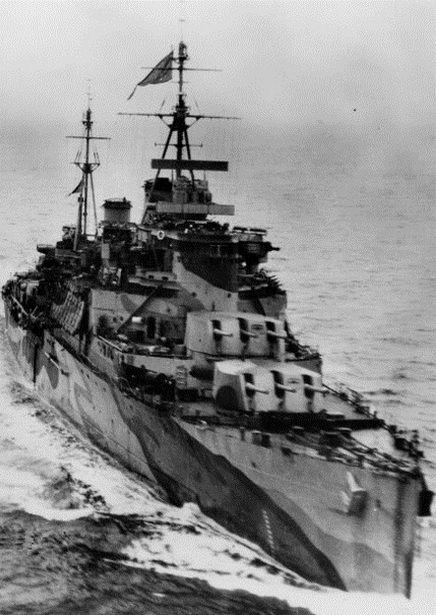 """HMS """"Trinidad"""". To na jego pokładzie służył Henryk Gorzechowski (źródło: domena publiczna)."""