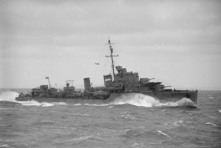 """HMS """"Intrepid"""" był jednym z pięciu niszczycieli eskortujących konwój PQ-13 (źródło: domena publiczna)."""