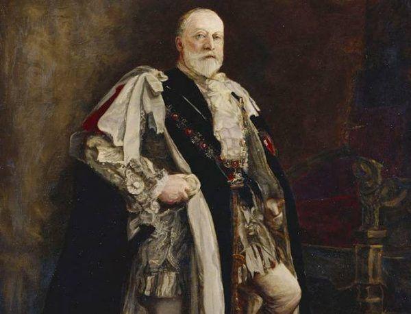 Znacznie łatwiej pozować w koronacyjnych szatach, niż odpoczywać incognito... Obraz Philipa Tennysona Cole'a (źródło: domena publiczna).