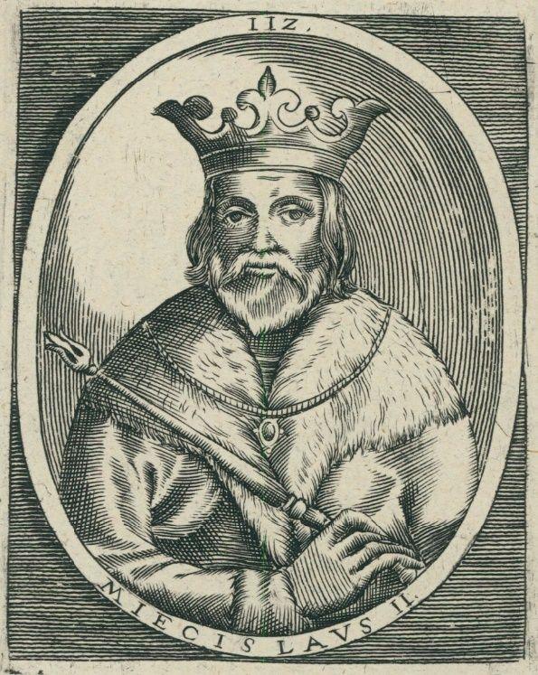 Mieszko II na XVII-wiecznym portrecie.