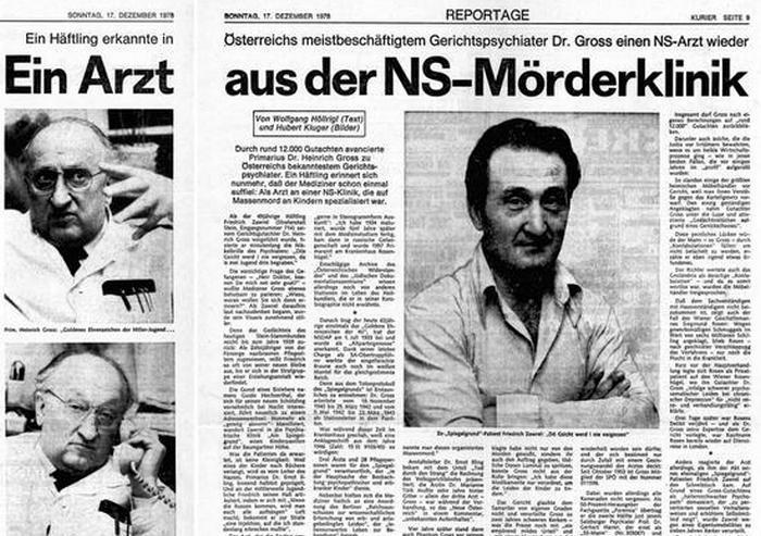 Dopiero trzydzieści lat po zakończeniu wojny austriacka prasa zaczęła opisywać zbrodnicze praktyki jakich dopuścił się doktor Heinrich Gross.