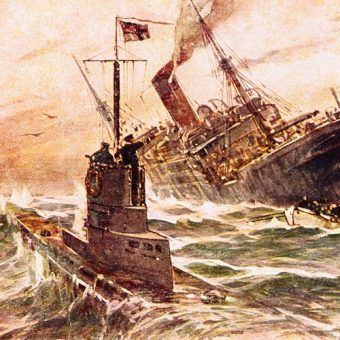 Skuteczność U-Bootów sprawiła, że trzeba było znaleźć sposoby na ich zwalczanie. Na ilustracji obraz Willy'ego Stöwera (źródło: domena publiczna).