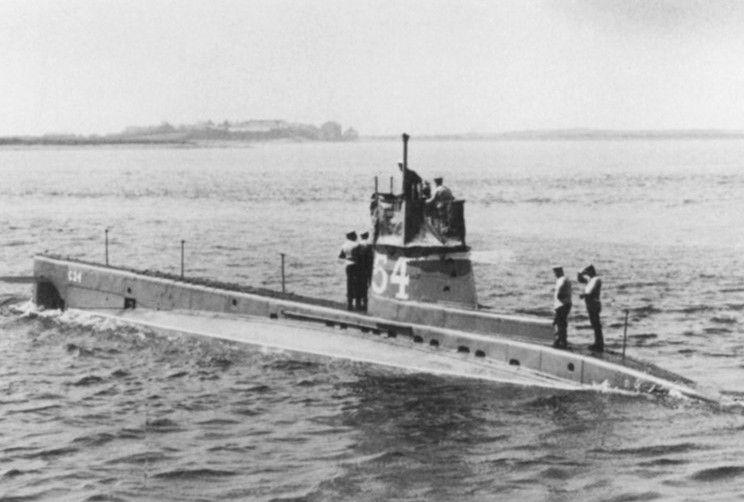 Brytyjski okręt podwodny C-24. To właśnie ta jednostka posłała na dno U-40 (źródło: domena publiczna).