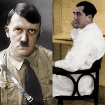 Adolf Hitler i jego niedoszły szwagier doktor Erwin Jekelius (źródło: domena publiczna).