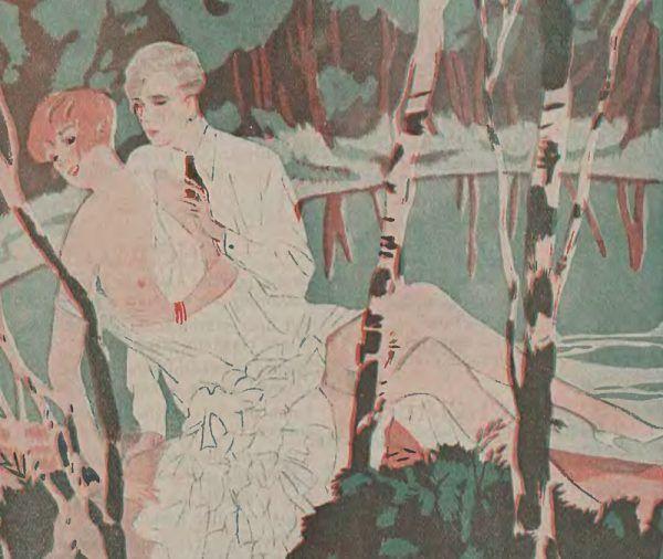 Noce poślubne zwykle nie wyglądały tak sielankowo i czule, jak to spotkanie kochanków nad stawem (źródło: domena publiczna).