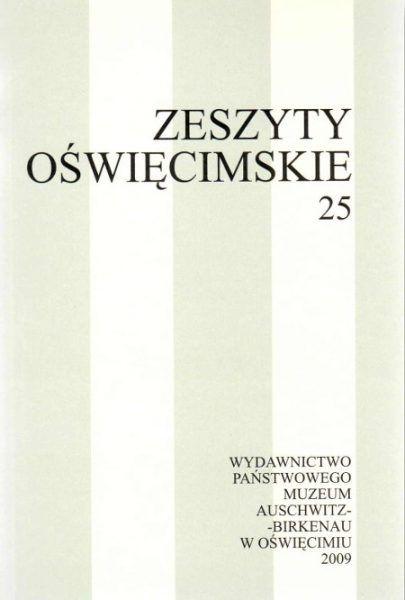 """Artykuł został oparty m.in. na artykule opublikowanym w 25 numerze """"Zeszytów Oświęcimskich""""."""