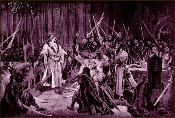 Czescy możnowładcy nie mieli problemu z wyborem Jerzego z Podiebradu na swojego króla. Po jego śmierci zabrakło im zdecydowania (autor: Adolf Liebscher, źródło: domena publiczna)