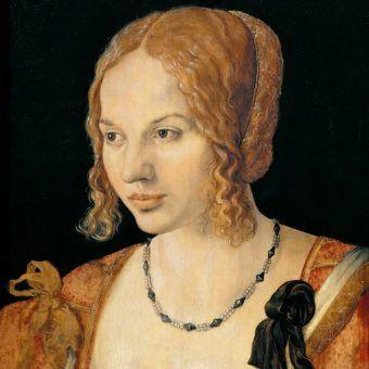 Młoda Wenecjanka na obrazie pędzla Albrechta Dürera z 1505 roku (źródło: domena publiczna).