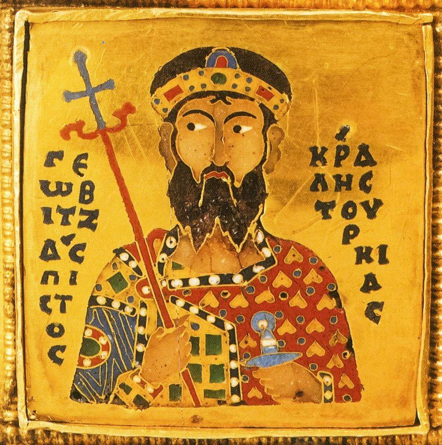 Król węgierski Gejza I - jeden z licznych władców, którzy swój tron zawdzięczali Polakom (źródło: domena publiczna).