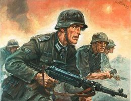 Pod koniec 1944 r. siła niemieckich wojsk była już daleka od propagandowych obrazków.