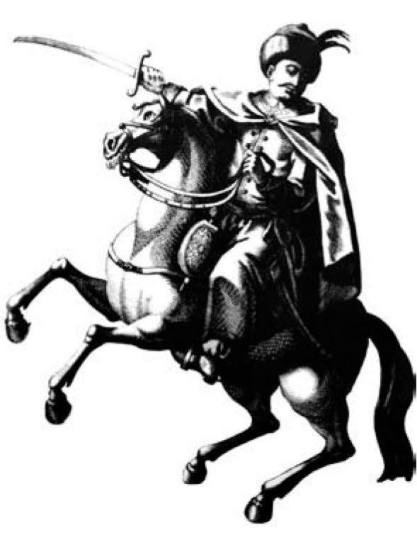 Józef Zaremba na XVIII-wiecznym rysunku Johanna Martina Willa (źródło: domena publiczna).
