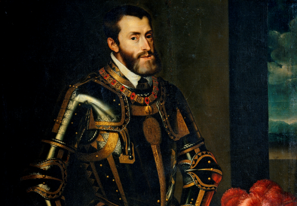 Włoskie posiadłości królowej Bony były łakomym kąskiem dla cesarza Karola V (źródło: domena publiczna).