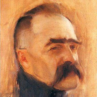 Portret Józefa Piłsudskiego autorstwa Konrada Krzyzanowskiego z 1920 roku (źródło: domena publiczna).