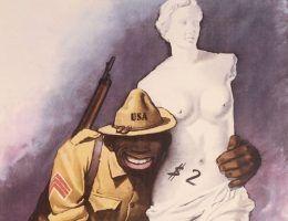 Włoski plakat propagandowy z czasów II wojny światowej (źródło: domena publiczna).