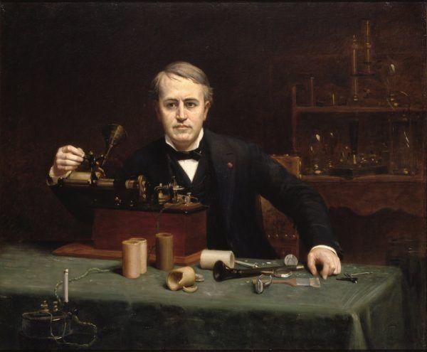 Thomas Alva Edison na portrecie Abrahama Archibalda Andersona (domena publiczna).