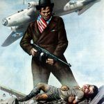 Amerykańscy żołnierze jako najgorsi kryminaliści? Tak przedstawiała ich wroga propaganda, m.in. na tym włoskim plakacie.