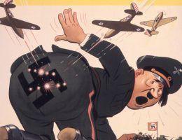Wszystko wskazuje na to, że pod koniec 1944 r. Hitler nie mógł już uniknąć klęski (na ilustracji amerykański plakat propagandowy z czasów wojny).