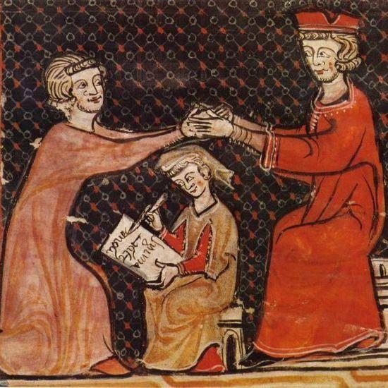 hołd lenny na średniowiecznej miniaturze (źródło: domena publiczna)