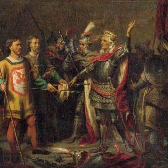 Protoplasta dynastii przed botwą pod Grunwaldem.