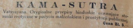 Tak wyglądały przedwojenne reklamy Kamasutry w polskich książkach i gazetach.
