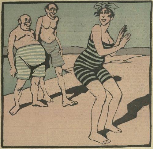 """Polakom sprzed stulecia zdecydowanie brakowało ogłady w sprawach erotycznych... (ilustracja z pisma """"Sowizdrzał"""", 1919)."""