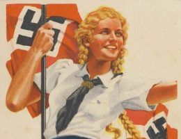 Fragment nazistowskiego plakatu propagandowego (źródło: domena publiczna).