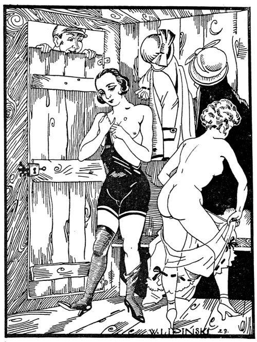 """Herzen przekonywał, że nic tak nie wspomaga zdrowia i rozwoju organizmu, jak unikanie erotycznych podniet (powyżej ilustracja z przedwojennego pisma """"Nowy Dekameron"""", 1924)."""