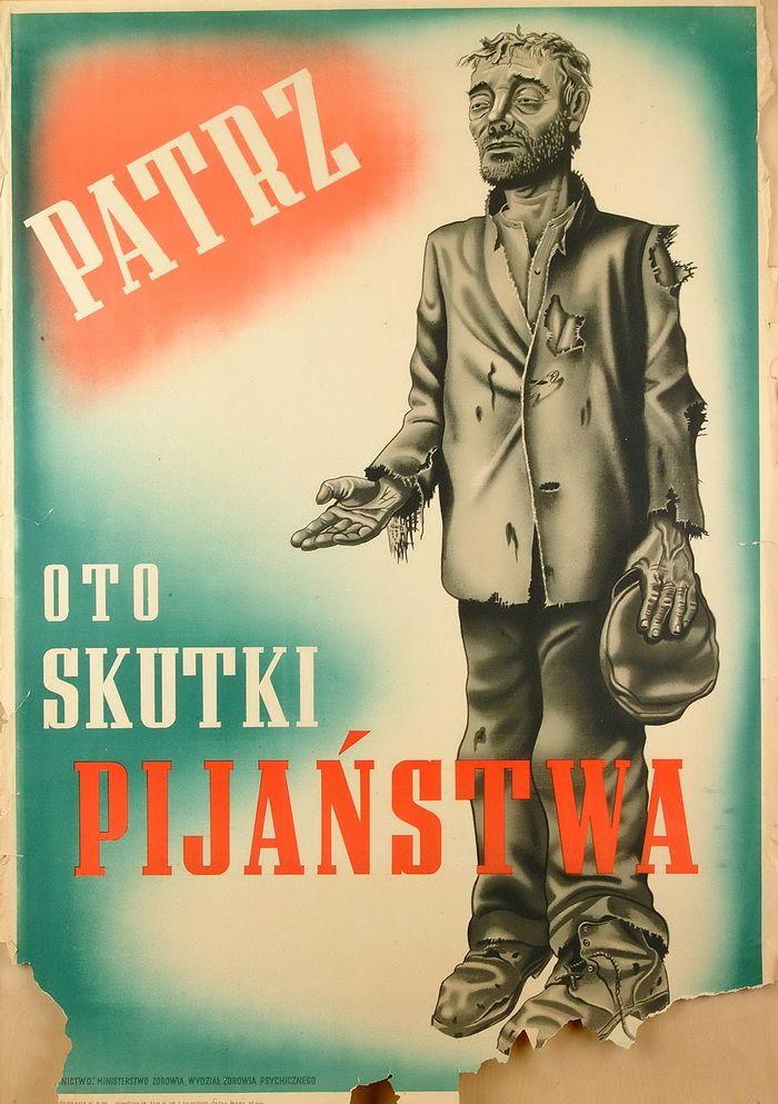 Z księży Suchowolca i Zycha próbowano zrobić ofiary nałogu alkoholowego. Na zdjęciu plakat z czasów PRL.