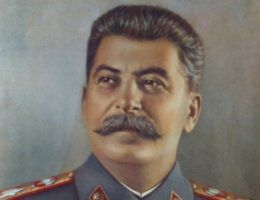 """Portret Stalina z propagandowego pisma """"USSR in Construction"""" z roku 1949"""