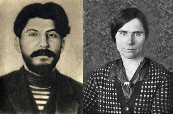 Stalin w roku 1912, niedługo przed pojawieniem się w Kuriejce (zdjęcie z pamiątkowej książki wydanej w 1940 r., domena publiczna). Marynarską koszulkę wspominała Lidia jeszcze po wojnie (po prawej - zdjęcie Lidii z okresu po 1945 r., źródło: domena publiczna).