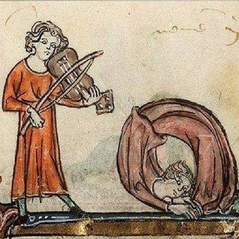 Średniowieczne tańce (domena publiczna).
