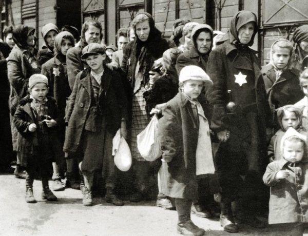 Nie pijany motłoch, a lokalna elita mordowała w Wąsoszu żydowskich mężczyzn, kobiety i dzieci. Na zdjęciu: Żydzi przywiezieni do Auschwitz (źródło: domena publiczna)
