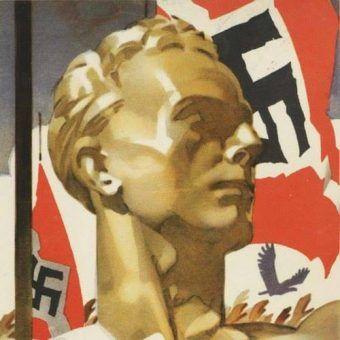 Na nic zdała się hitlerowska machina propagandowa. Manfred Zanker nie dał zrobić z siebie modelowego nazisty. Na ilutracji fragment niemieckiego plakatu propagandowego (źródło: domena publiczna).