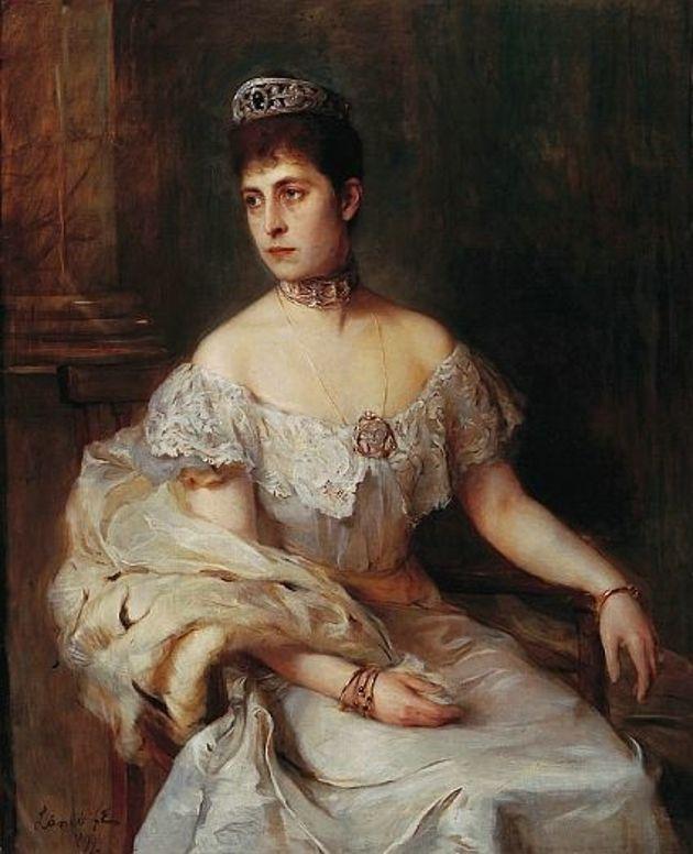 Krnąbrne dziecko i niepokorna kobieta. Na obrazie Charlotta Hohenzollern w wieku 30-kilku lat (autor: Philip Alexius de László; domena publiczna).