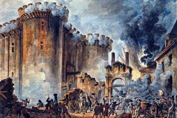 Zamiast ponurych lochów zdobywcy Bastylii znaleźli luksusowe apartamenty. Obraz Jeana-Pierre'a Houëla (źródło: domena publiczna).