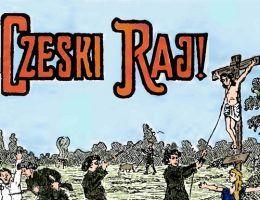 Polacy przedstawiali ówczesnych Czechów jak bezbożników, którzy nie uznają żadnych świętości. Fragment polskiej ulotki propagandowej z lat 20. XX wieku (źródło: domena publiczna).