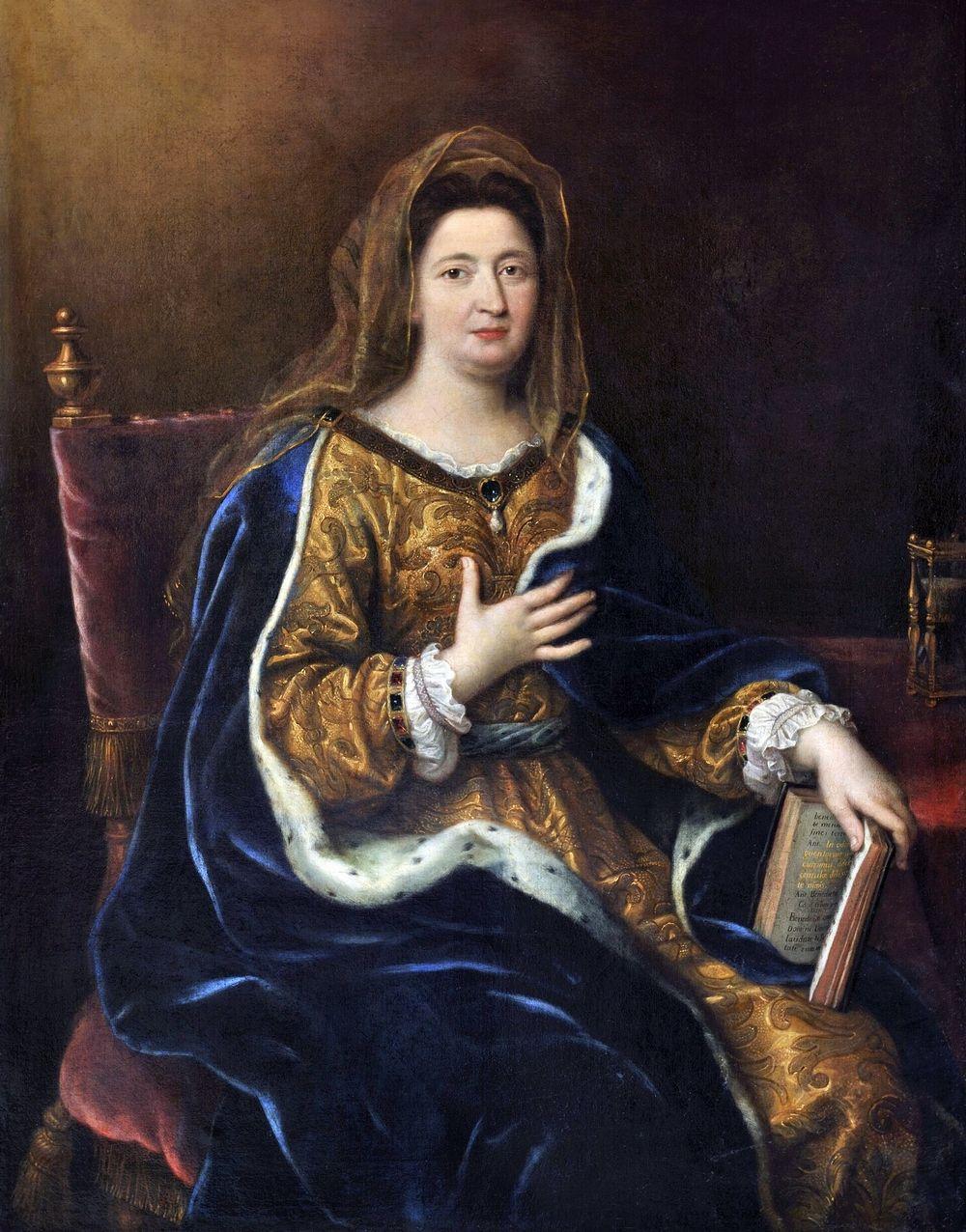 58-letnia małżonka króla wciąż miała sporo uroku. Franciszka w 1694 roku na obrazie Pierre'a Mignarda (źródło: domena publiczna).