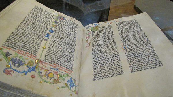 Biblia Gutenberga. Czy dorobek Elona Muska będzie miał podobne znaczenie dla ludzkości jak pojawienie się ruchomej czcionki drukarskiej? (fot. Concord, CC BY-SA 3.0).