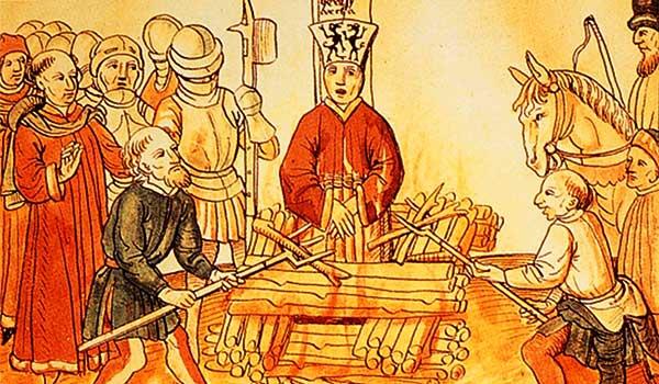 Spalenie Jana Husa na soborze w Konstancji. To w tym momencie Kościół Katolicki na zawsze zrobił sobie z Czechów wrogów... (źródło: domena publiczna).