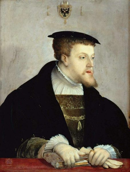 Karol V w 1532 r. na portrecie Christopha Ambergera (źródło: domena publiczna).