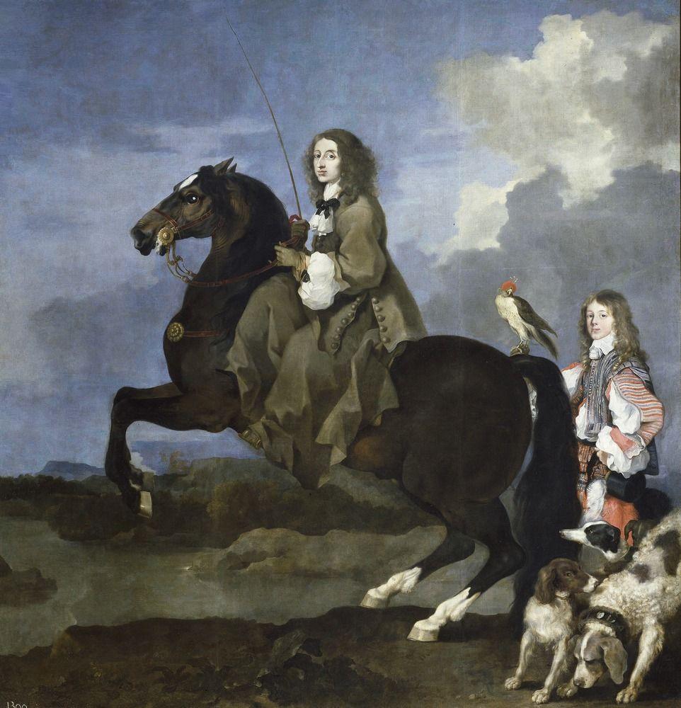 Królowa Szwecji Krystyna w swoim żywiole. Obraz Sébastiena Bourdona z 1653 roku (źródło: domena publiczna).