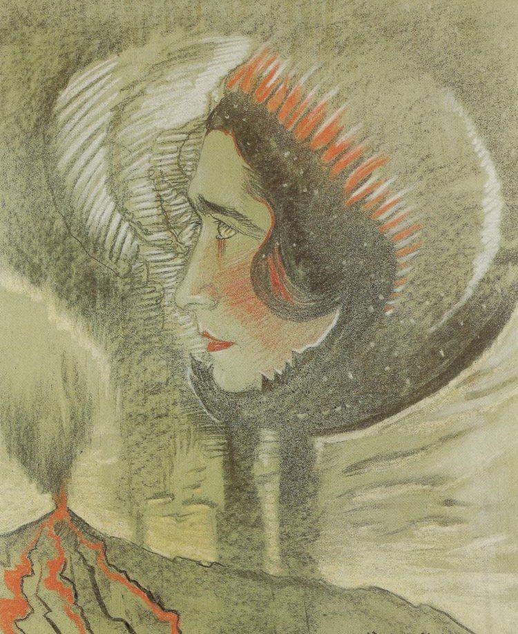 Irena Krzywicka była piękna i łamała konwenanse. Nic dziwnego, że wzbudzała w mężczyznach skrajne emocje... często ponosząc tego koszty. Portret skandalistki wykonany przez Witkacego w 1928 roku (źródło: domena publiczna).