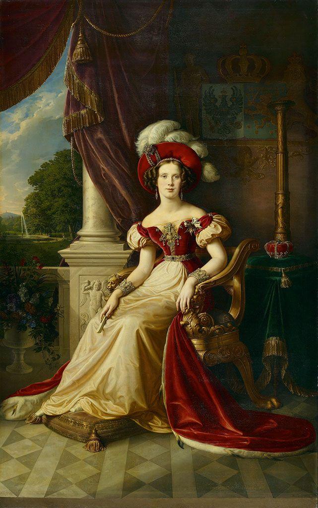 Marianna w wieku 22 lat. Jeszcze nie wiedziała, ile upokorzeń czeka ją w życiu z powodu złamania zasad moralnych swej epoki (obraz Karla Wilhelma Wacha, domena publiczna).