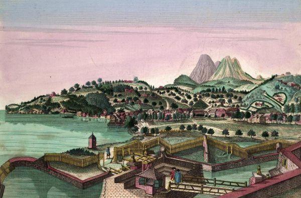 """Królewski fort na Martynice. To między innymi na tej karaibskiej wyspie Kopciuszek spędził swą """"amerykańską przygodę"""" (autor: François Denis, domena publiczna)."""