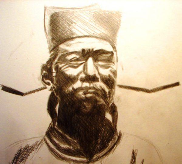 Wyobrażenie współczesnego artysty o tym, jak wyglądał Shen Kuo (źródło: Wikimachine, lic. CC BY-SA 3.0).