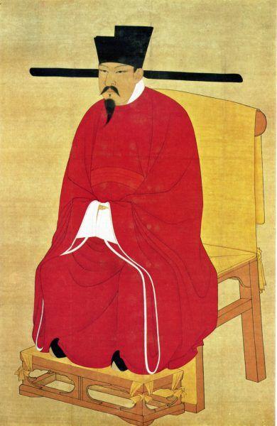 Cesarz Shenzong z dynastii Song (1067–1085) obsypywał Shen Kuo pochwałami i tytułami. Wystarczyła jedna porażka, by zapomniał o swoim protegowanym (źródło: domena publiczna).