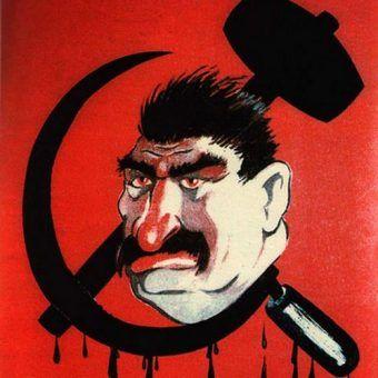 Czy Stalin miał na rękach krew 100 milionów ludzi? Na ilustracji fragment niemieckiego plakatu propagandowego z czasów II wojny światowej (źródło: domena publiczna).