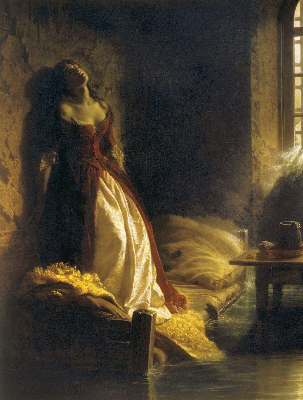 Według legendy Tarakanowa zginęła podczas powodzi. To błędne przekonanie ilustruje obraz Konstantina Flawickiego z 1864 roku (źródło: domena publiczna).