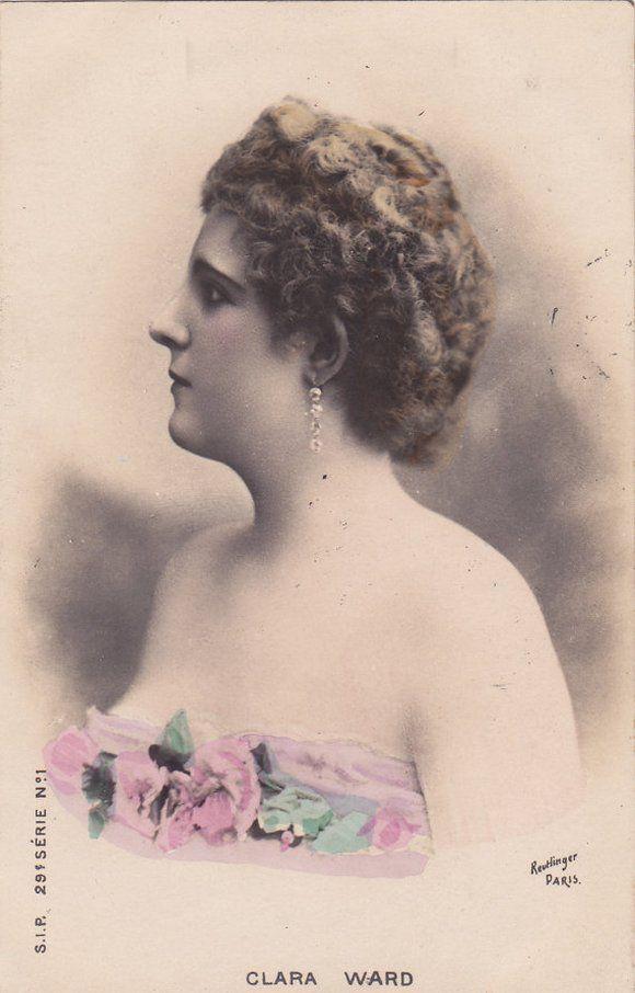 Romantyczna pocztówka z księżną Caraman-Chimay, datowana na ok. 1902 rok (źródło: domena publiczna).